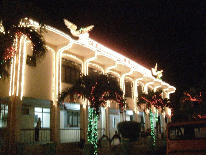City Mayor's Office with Christmas lights